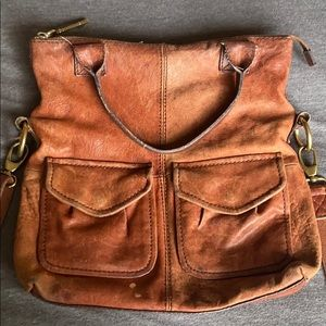 Genuine leather lucky brand purse